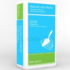 Lime Green Natural Hydraulic Lime Mortar NHL 3.5 (25kg) for fine sized joints - Chalk Colour